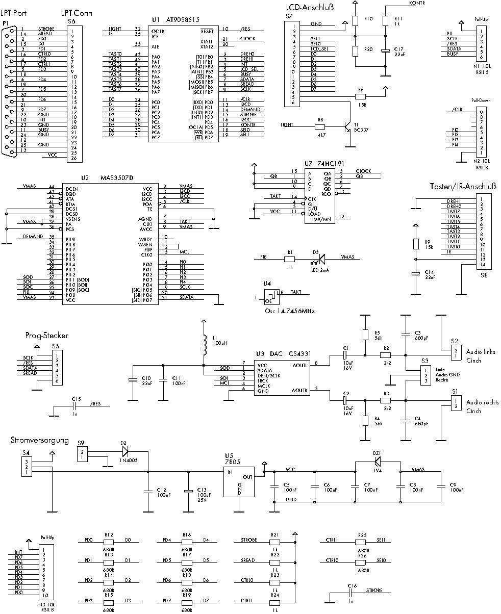 mp3 hardware decoder am pc printerport teil 1 c 39 t magazin. Black Bedroom Furniture Sets. Home Design Ideas