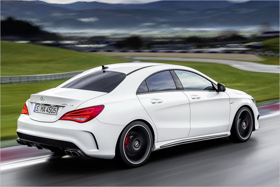 cla 45 amg mit 360 ps das kleine coup von mercedes. Black Bedroom Furniture Sets. Home Design Ideas
