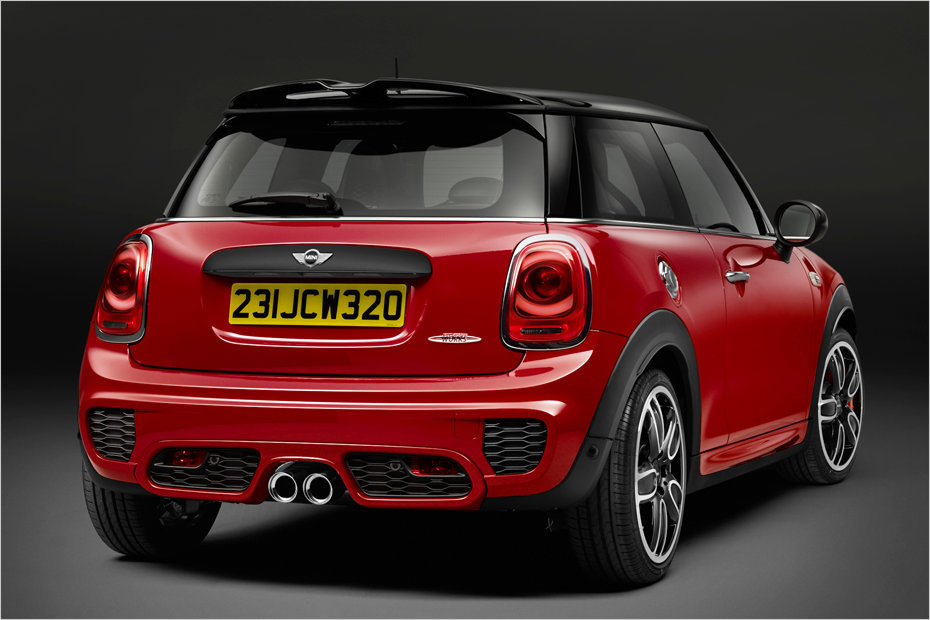 der neue mini john cooper works bekommt f r 2015 ein upsizing heise autos. Black Bedroom Furniture Sets. Home Design Ideas