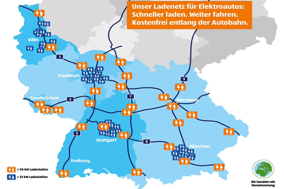 Lidl kündigt 400-Ladesäulen-Netz an