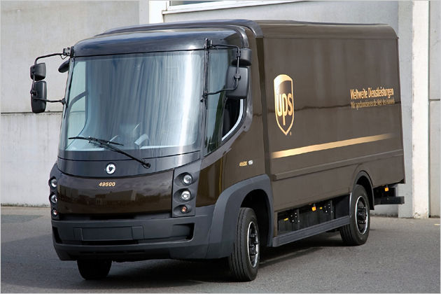 ups stellt elektro transporter auf der transport logistic. Black Bedroom Furniture Sets. Home Design Ideas