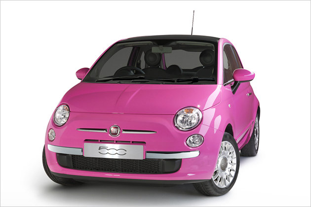 fiat 500 pink sondermodell im barbie look heise autos. Black Bedroom Furniture Sets. Home Design Ideas