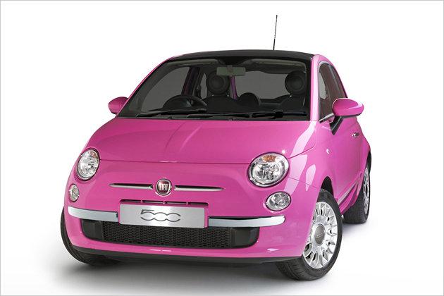 fiat 500 pink sondermodell im barbie look heise autos. Black Bedroom Furniture Sets. Home Design Ideas