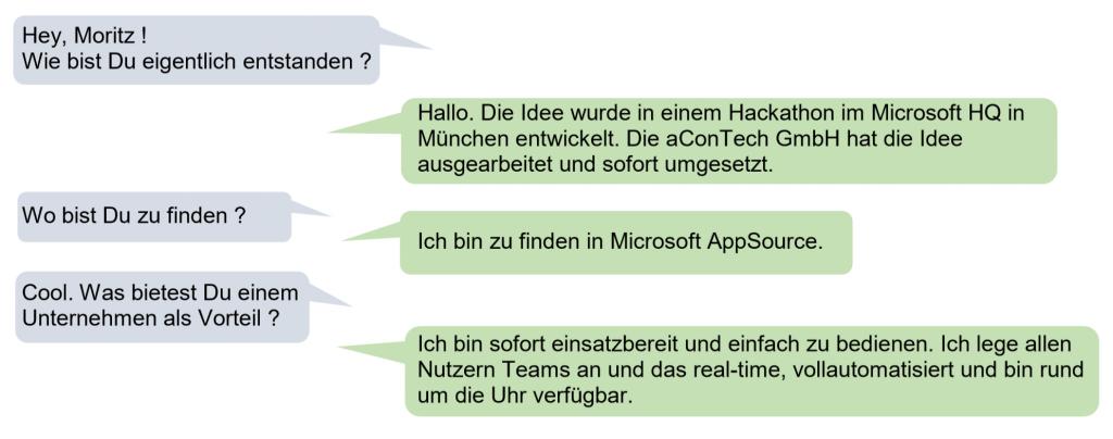 Wie ist Chatbot Moritz eigentlich entstanden? Hier antwortet er selbst.