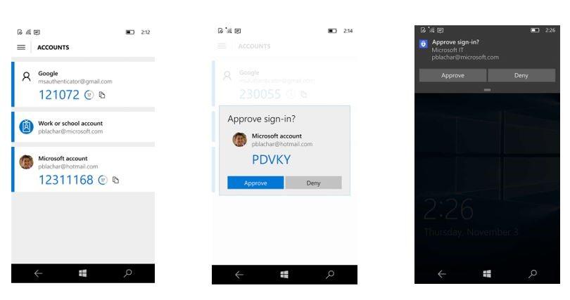 Screenshot Microsoft Authenticator