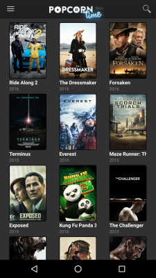 The Android app Popcorn Time looks like a normal streaming client, but shares copyrighted material via BitTorrent in the background.