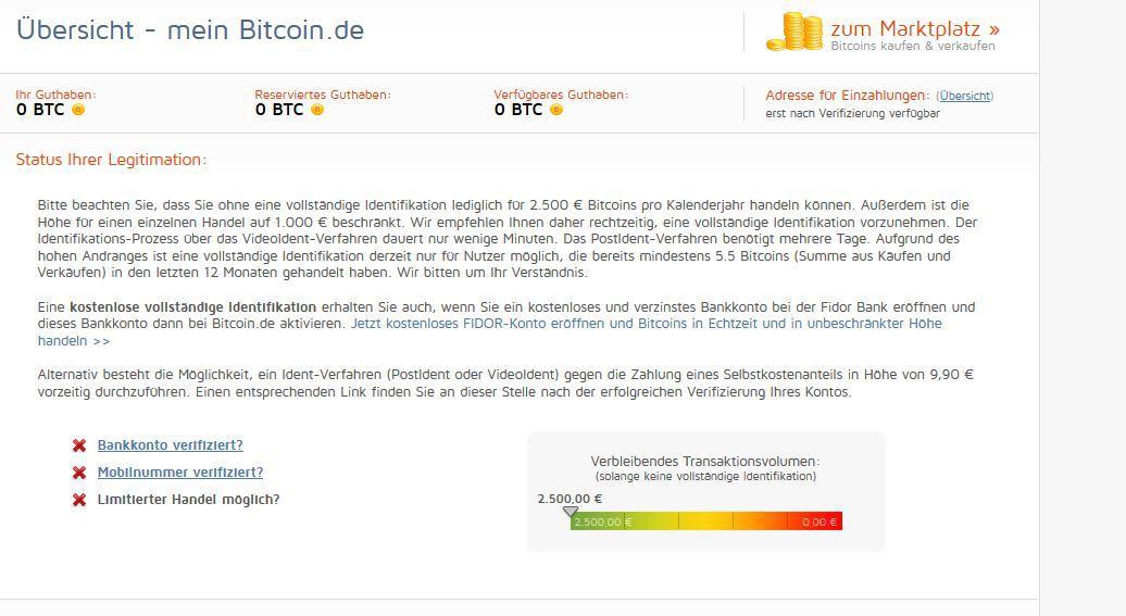 bitcoin verkaufen ohne anmeldung