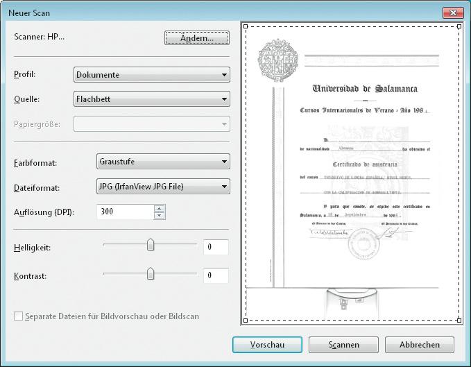windows macht es einem einfach in der bordeigenen scan funktion sind bereits profile fr dokumente und bilder eingerichtet - Bewerbung Welche Zeugnisse