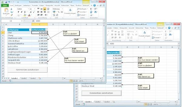 Excel Arbeitsblatt Schützen Vba : Excel kommentare automatisch positionieren c t magazin