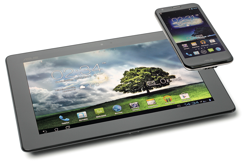 Android-Smartphone mit Tablet-Dock