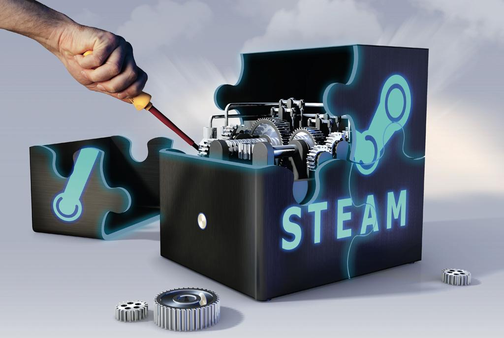 c t steam box spielkonsolen pc selbst gebaut c 39 t magazin. Black Bedroom Furniture Sets. Home Design Ideas