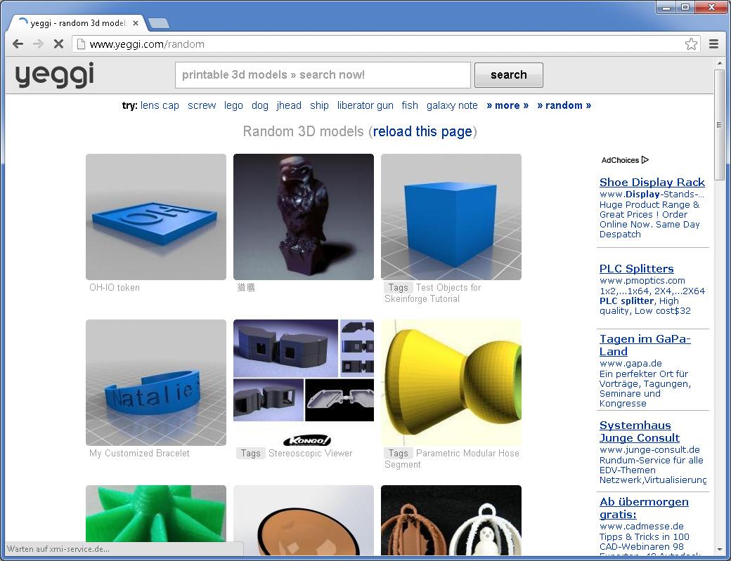 Als Eine Art Meta Suchmaschine Soll Yeggi Ausschließlich In 3D Druckbare  Objekte Liefern.