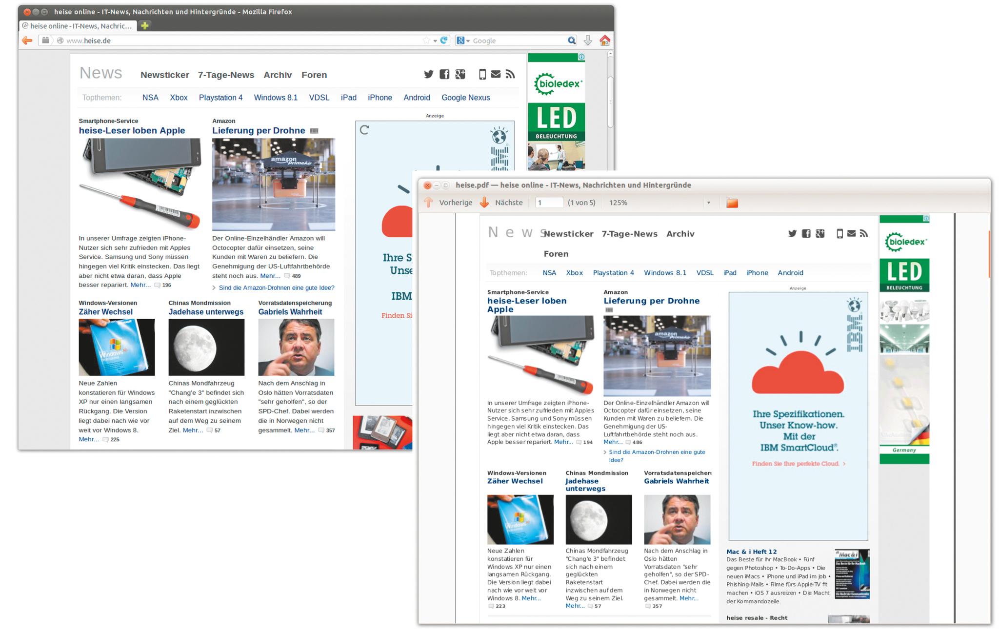 Ganze Webseite als PDF speichern Mit Gratis-Tool gar kein Problem