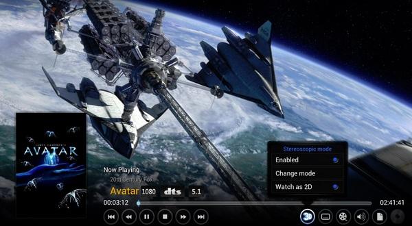Xbmc 13 rüstet stereoskopische 3d wiedergabe nach spielt allerdings