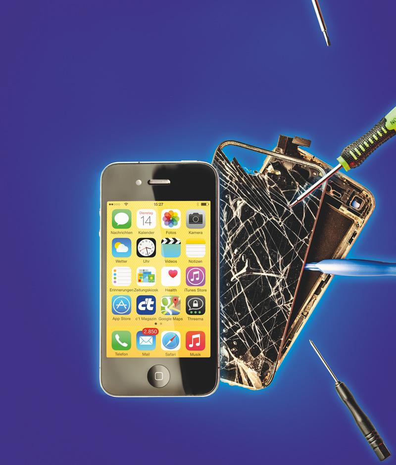 defekte smartphones einfache reparaturen selbst erledigen. Black Bedroom Furniture Sets. Home Design Ideas