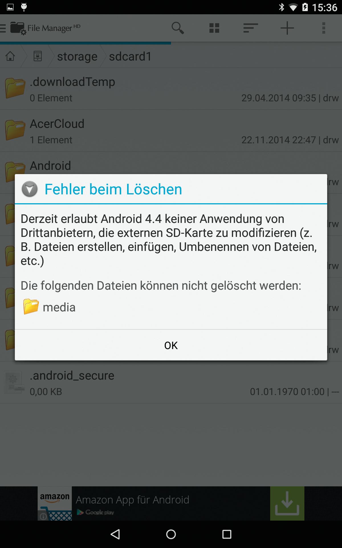 Android 4 4 Sd Karte Schreibschutz Aufheben.Einschränkungen Beim Zugriff Auf Sd Karten Unter Android 4 4 Und 5 0