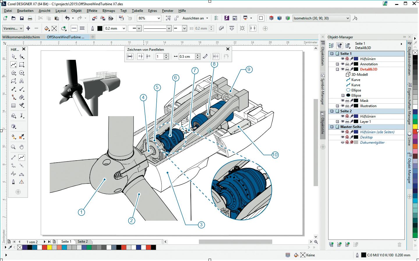coreldraw technical suite x7 exportiert auch 3d pdfs c 39 t magazin. Black Bedroom Furniture Sets. Home Design Ideas