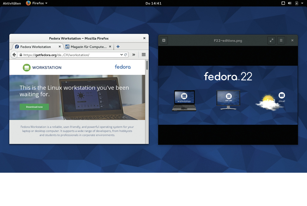 Fedora 22: Neuer Paket-Manager und Anmeldung via Wayland | c