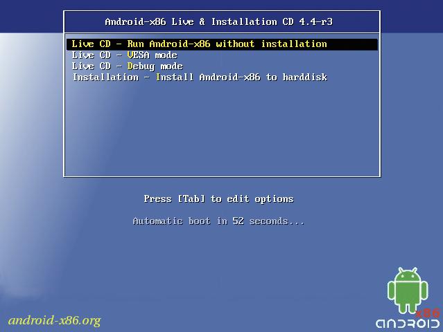 android x86 auf windows tablet installieren