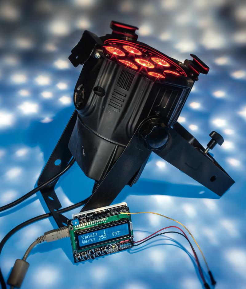 Wonderbaar DMX-Lichtsteuerpult mit Arduino selbst bauen | c't Magazin XI-51