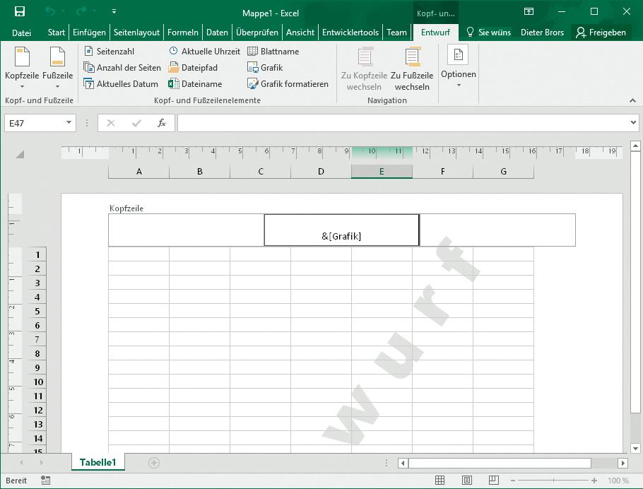Excel-Tabelle mit Wasserzeichen hinterlegen | c\'t Magazin