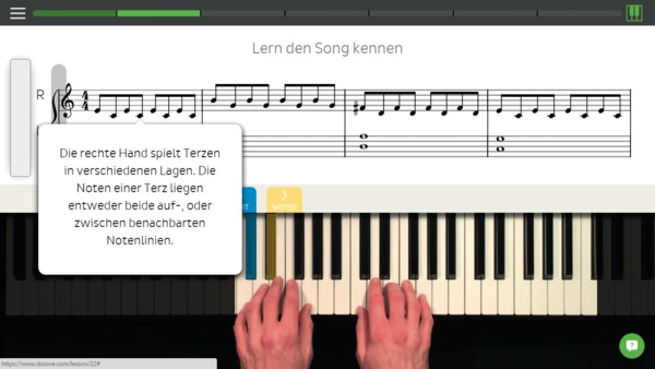 klavier spielen mit der browser app skoove c 39 t magazin. Black Bedroom Furniture Sets. Home Design Ideas