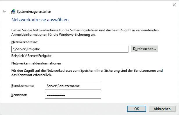 Windows-System-Image auf Netzwerklaufwerk schlägt fehl | c\'t Magazin