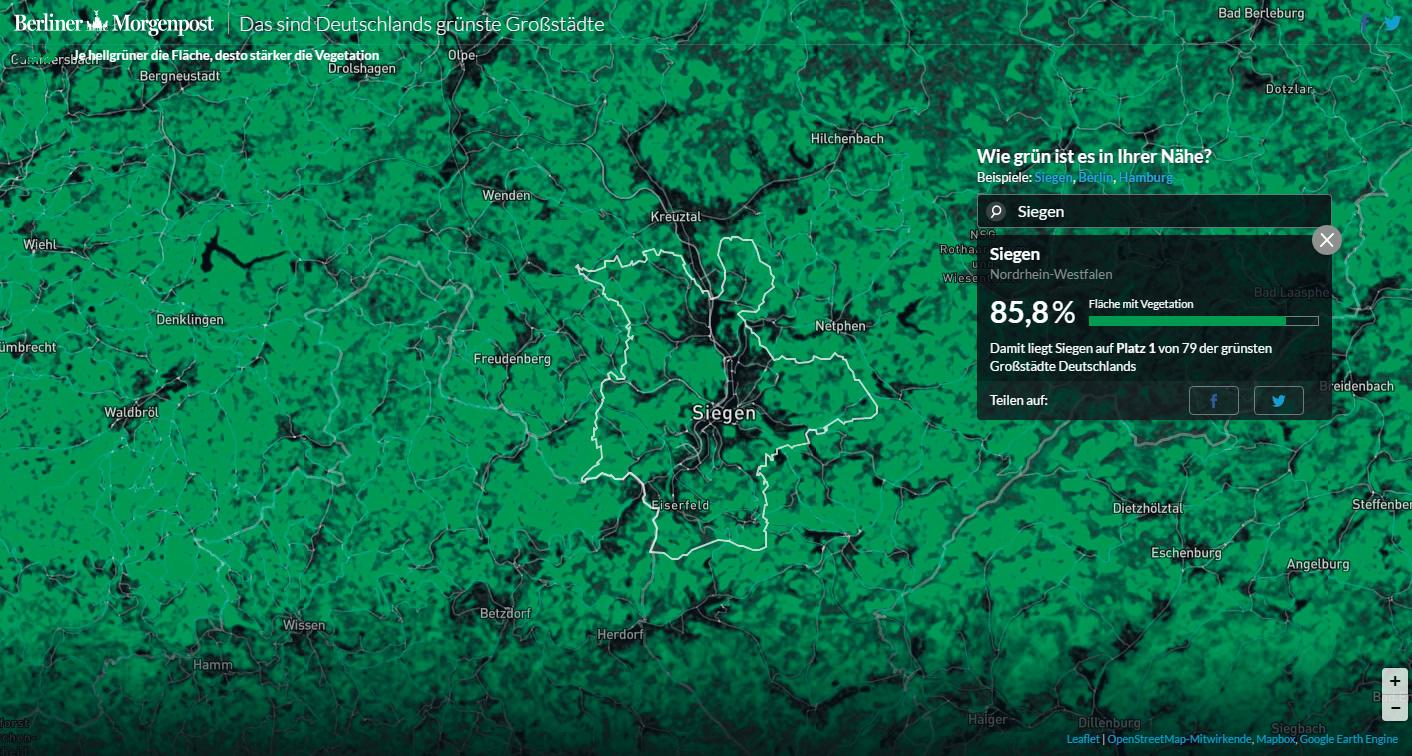Grünste Städte Deutschlands