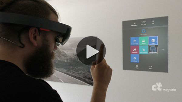 erster test die mixed reality brille microsoft hololens. Black Bedroom Furniture Sets. Home Design Ideas