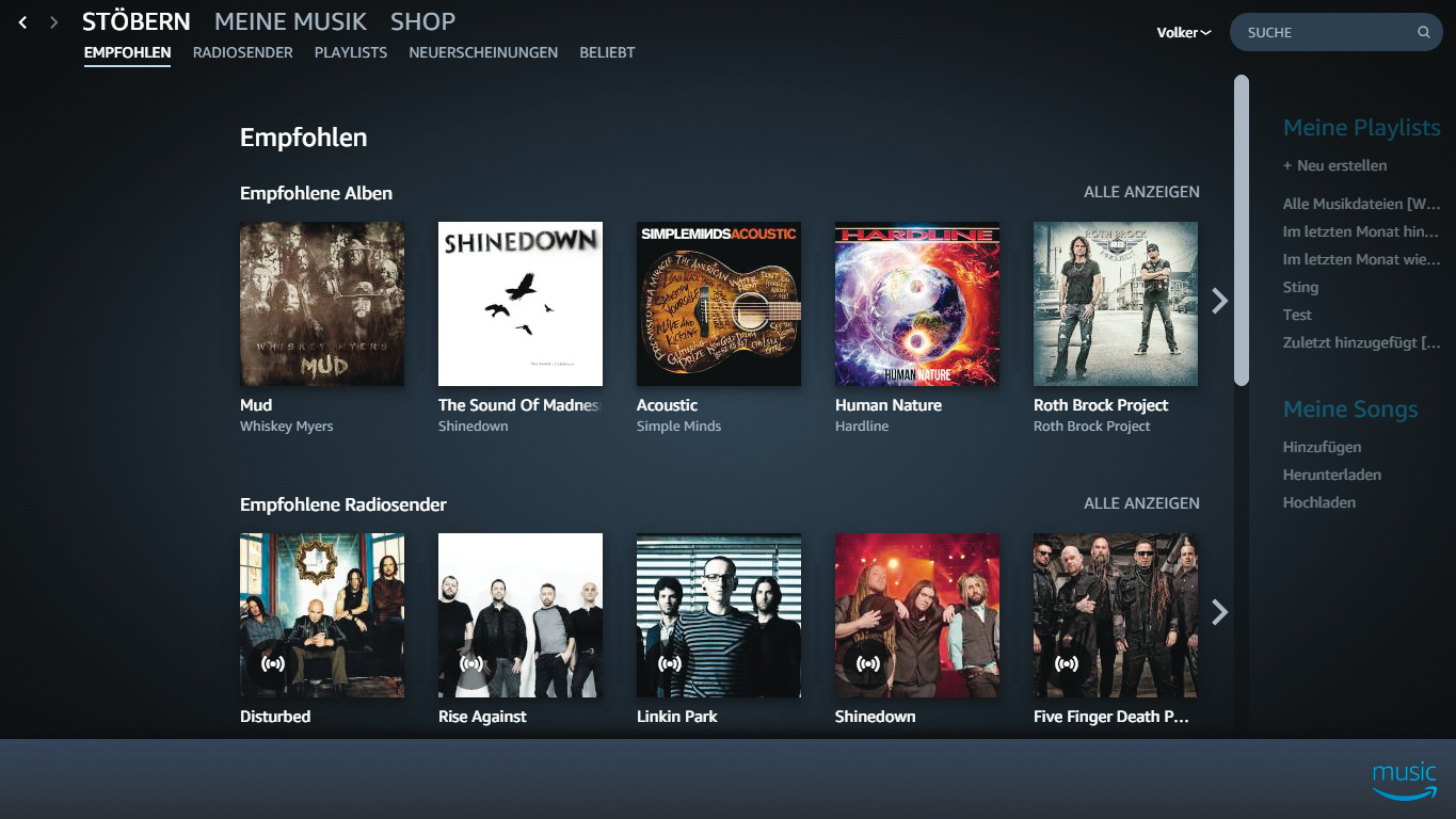 Amazon Music Unlimited Deutschland Test