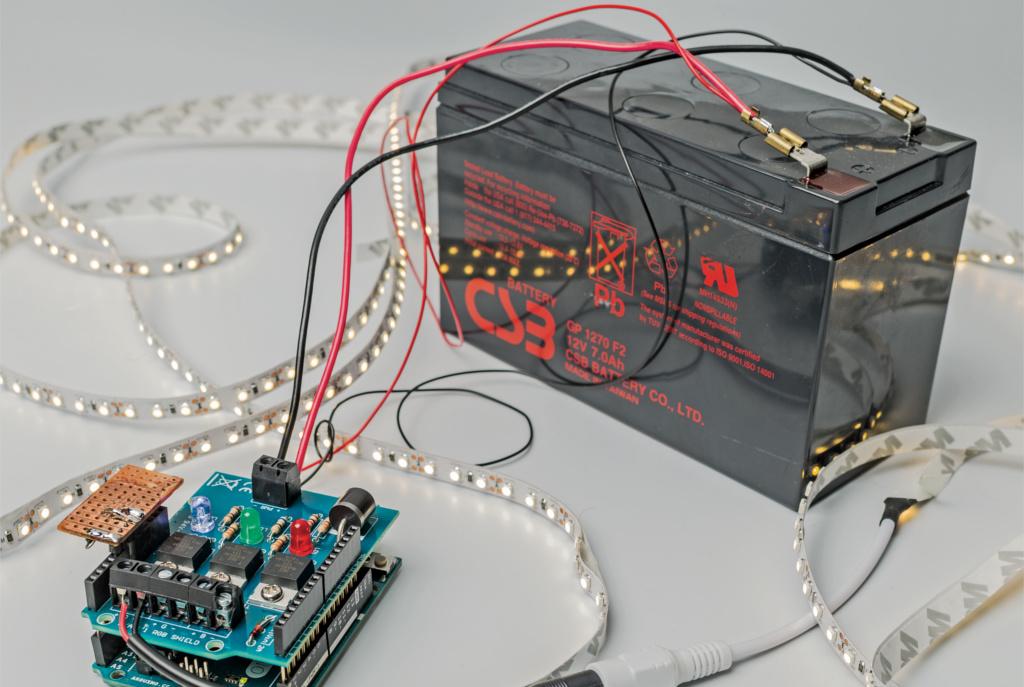 Entladeschutz-Schaltung mit Arduino | c\'t Magazin