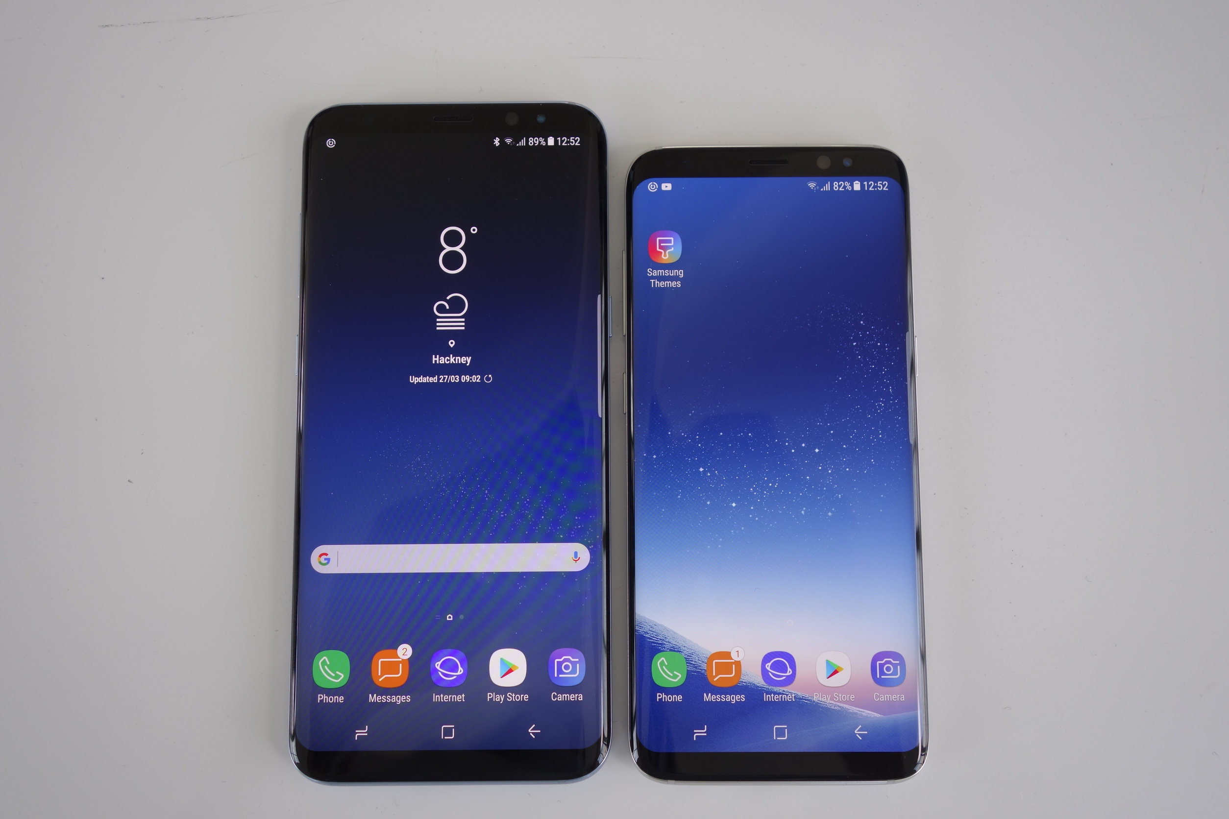 samsung smartphones galaxy s8 und s8 mit randlosem
