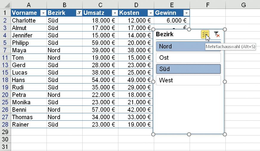 Tipps f r den effizienten umgang mit excel c 39 t magazin for Tabelle mit 9 spalten