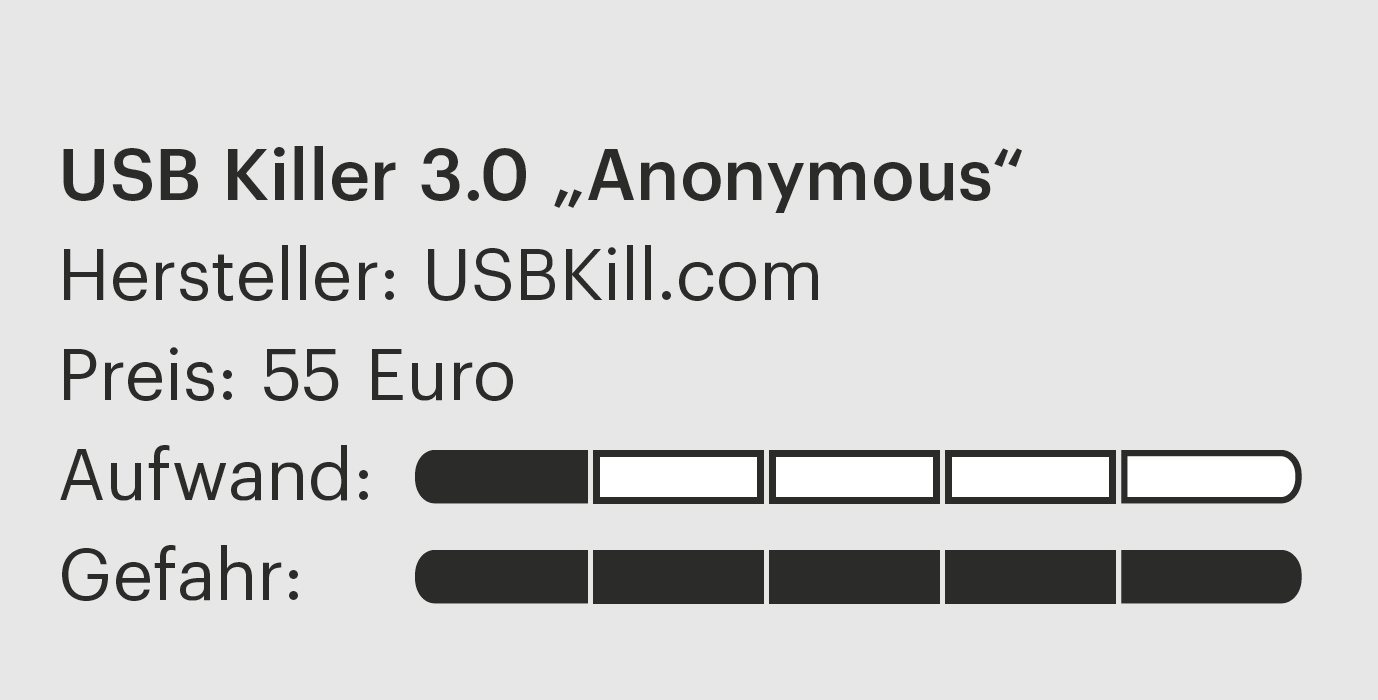 "USB Killer 3.0 ""Anonymous"" 