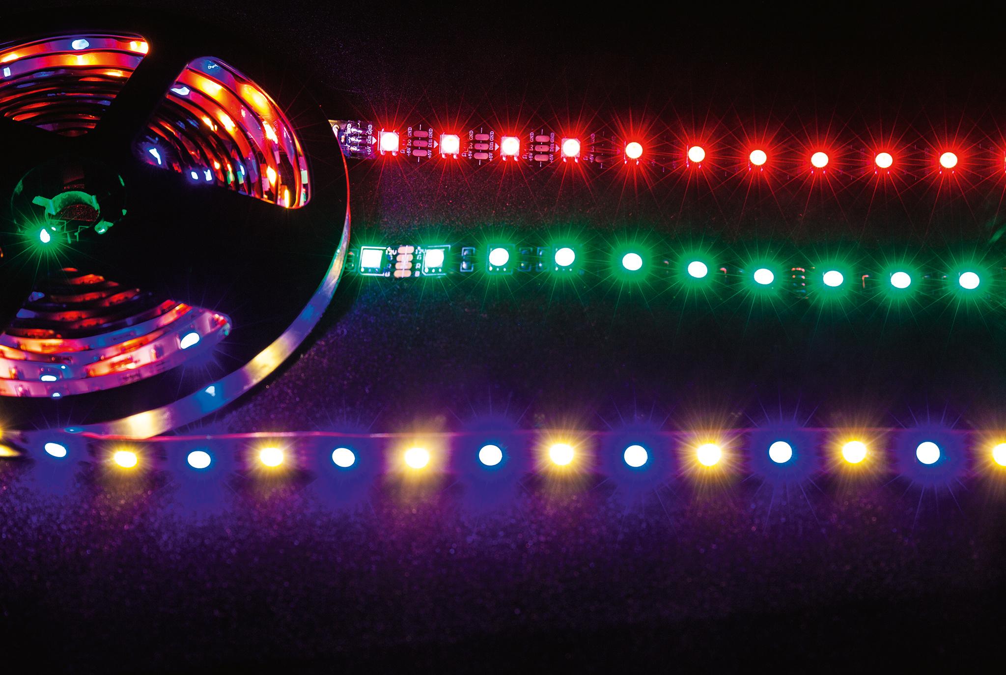 Die Technik unterschiedlicher RGB-LED-Streifen   c\'t Magazin