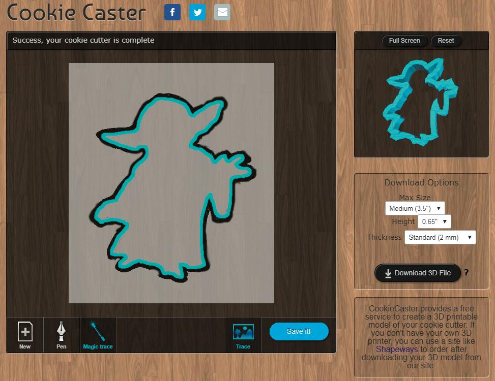 2D-Zeichnungen in 3D-Plätzchenausstecher verwandeln | c\'t Magazin