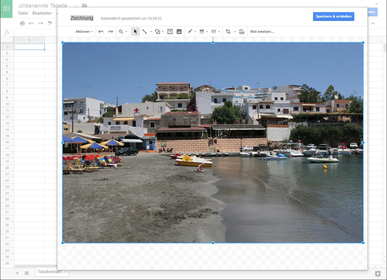 Bilder aus Zwischenablage in Google Tabellen einfügen | c\'t Magazin