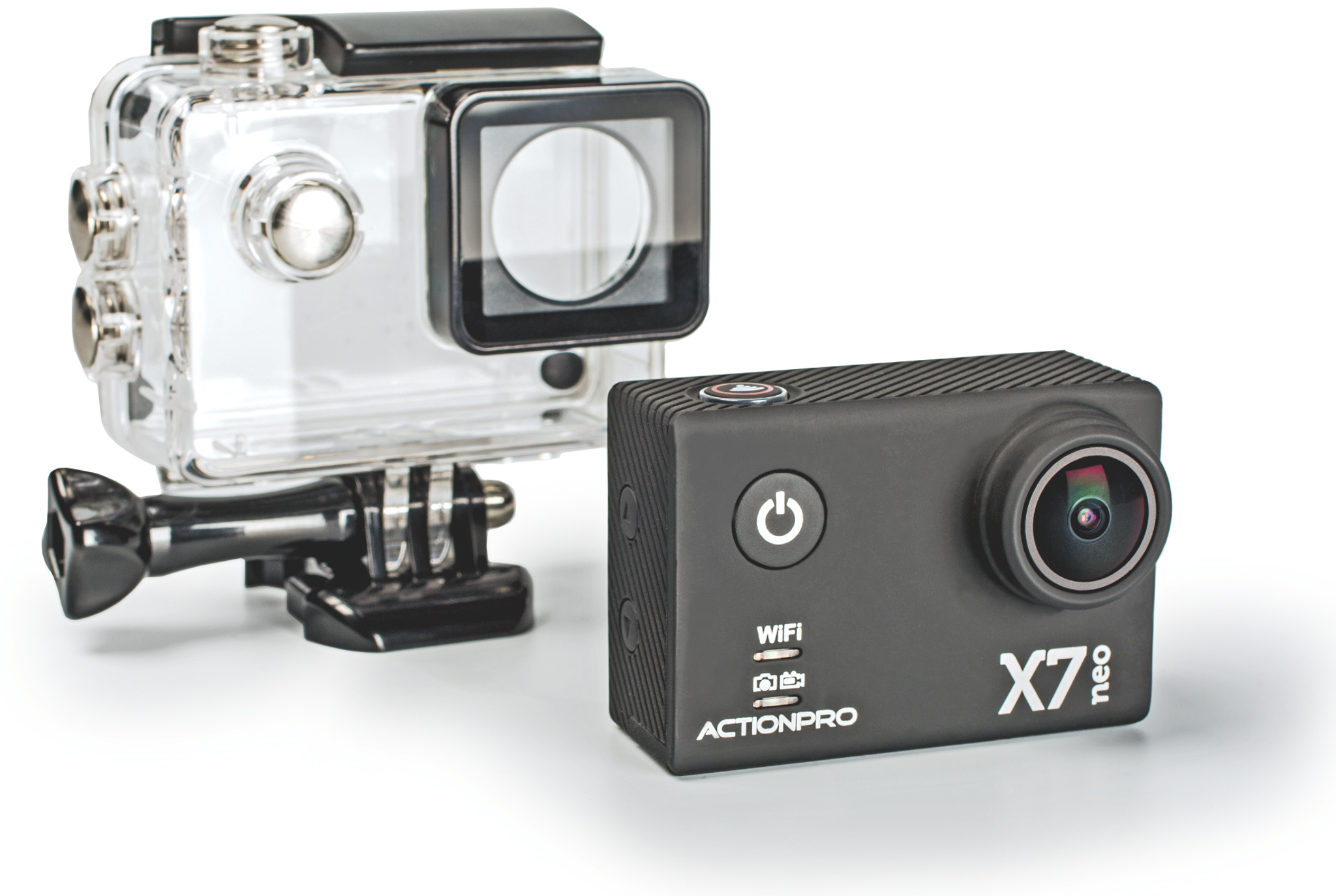 action cam mit 12 mpixel aufl sung actionpro x7 neo c 39 t. Black Bedroom Furniture Sets. Home Design Ideas