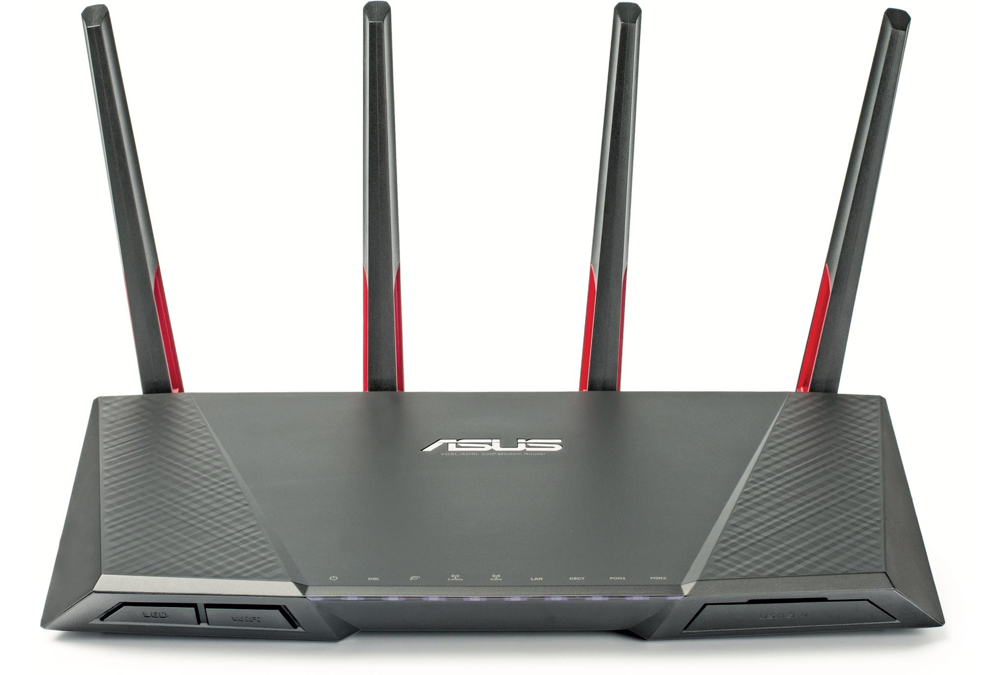 Asus xDSL-WLAN-Router DSL-AC68VG mit Telefonie   c\'t Magazin