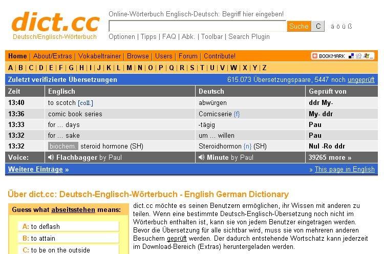 Englisch Cc