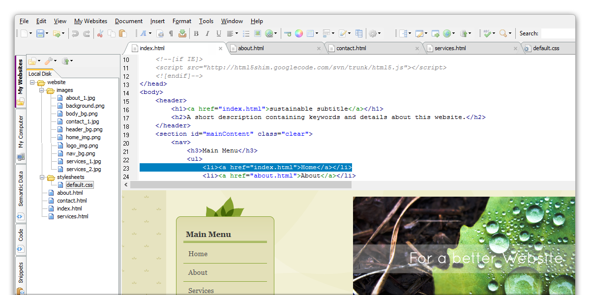 Coffeecup free html editor 9. 9 download.