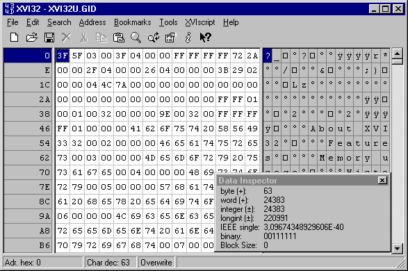 The hex editor (xvi32) guide for starters | cave story tribute.
