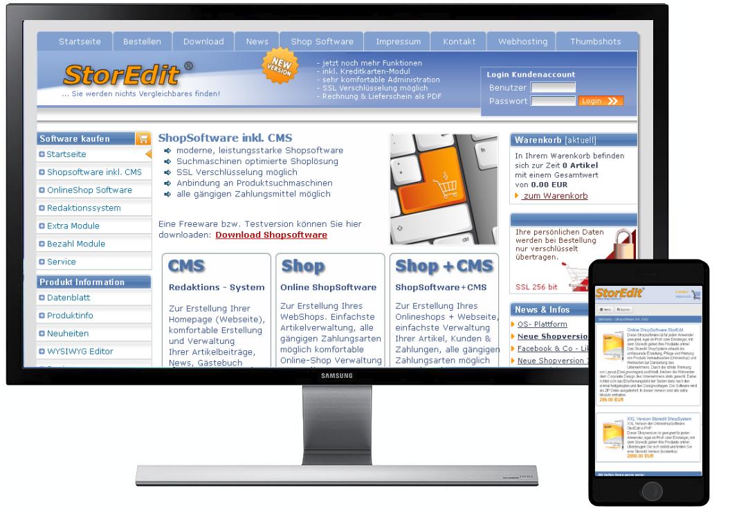 online shop software storedit heise download. Black Bedroom Furniture Sets. Home Design Ideas
