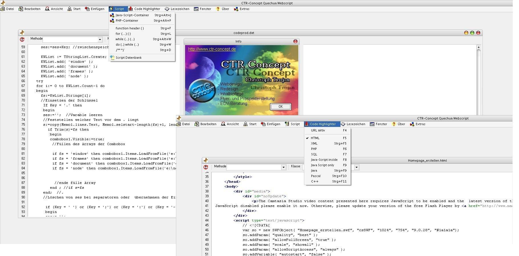 Quechua Web Script Editor   heise Download