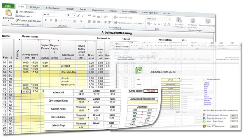 Zeiterfassung Excel Heise Download