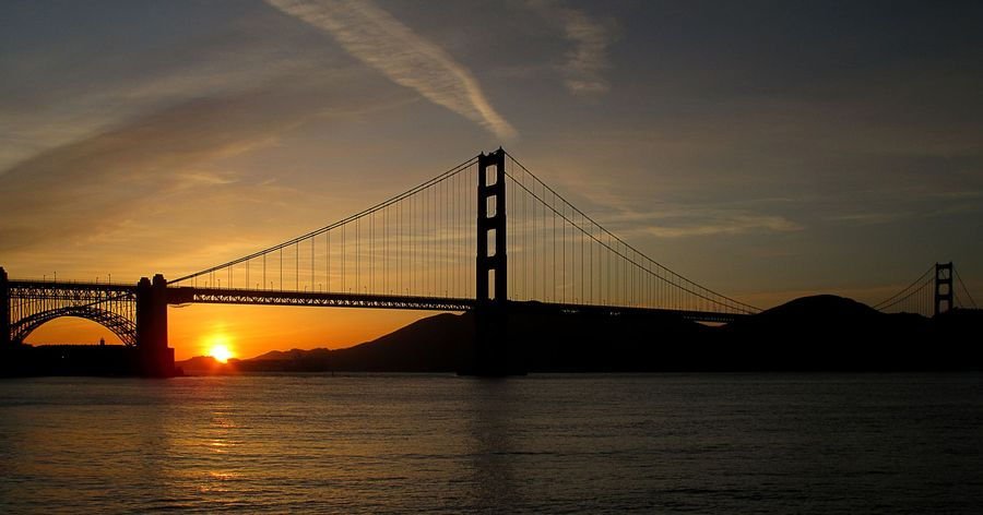sonnenuntergang golden gate von bardelino galerie heise foto. Black Bedroom Furniture Sets. Home Design Ideas