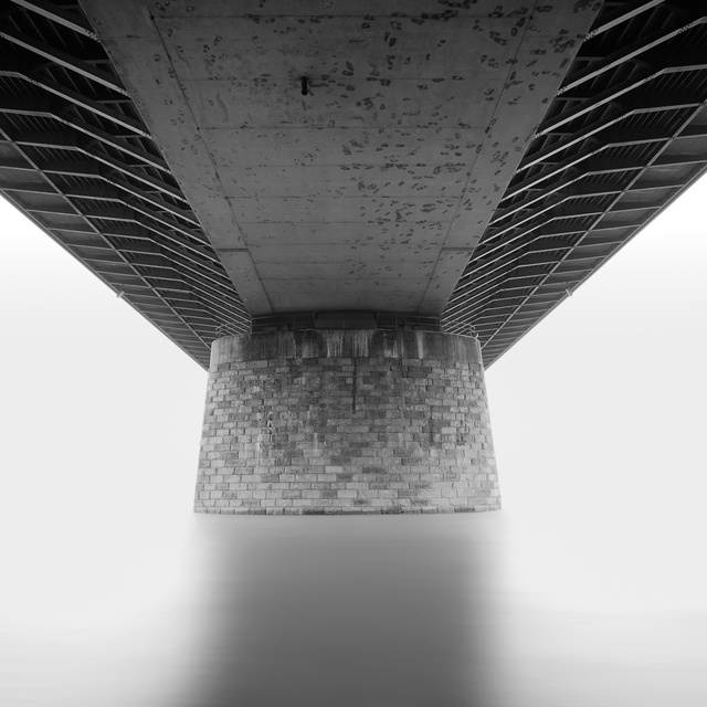 ...under the bridge...b&w