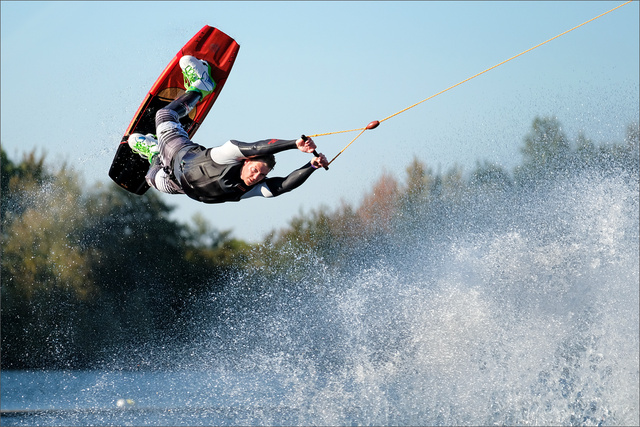 Wakeboarding...