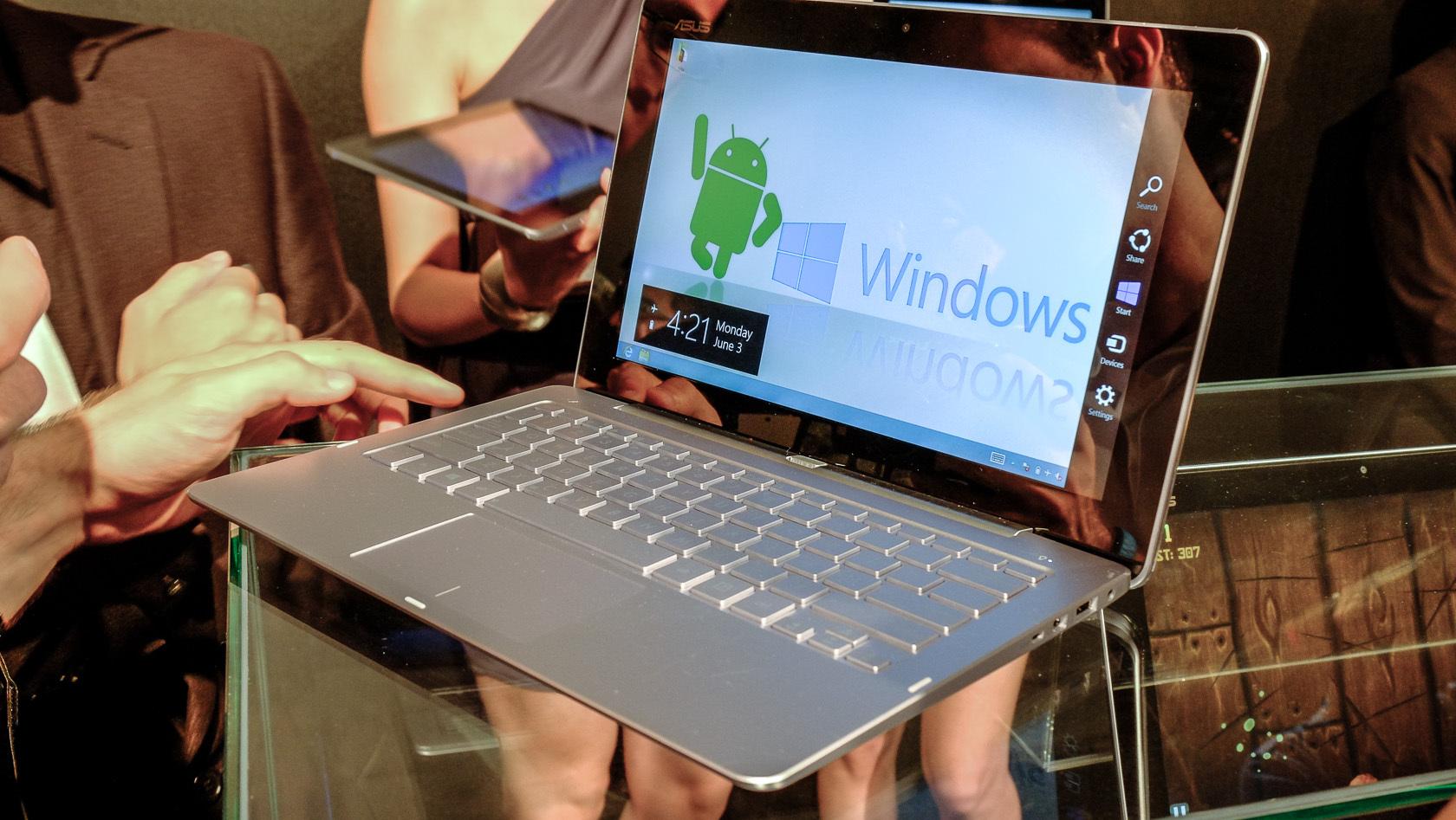 hybride aus notebook tablet und desktop pc mit windows. Black Bedroom Furniture Sets. Home Design Ideas