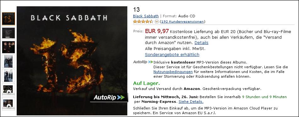 """Amazon Schaltet """"AutoRip""""-Funktion In Deutschland Frei"""